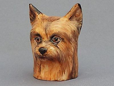 Francesca Character Head Thimble - Yorkshire Terrier, Dog Collection