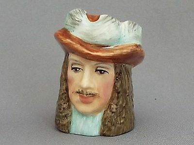 Francesca Character Head Thimble - King Charles II, Royalty Collection (i)