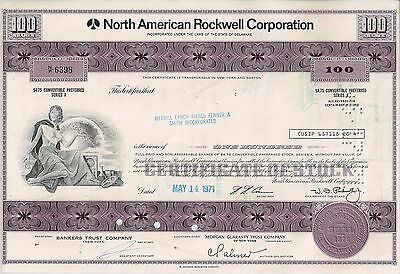North American Rockwell Corporation, 1971 (100 Shares)