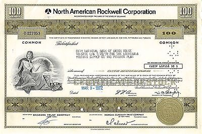 North American Rockwell Corporation, 1972 (100 Shares) W.J.Rockwell