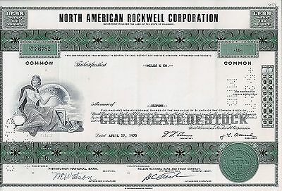 North American Rockwell Corporation, 1970 (11 Shares)