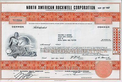 North American Rockwell Corporation, 1967 (1 Share)