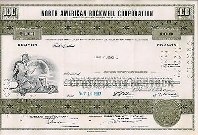 North American Rockwell Corporation, 1967 (100 Shares)