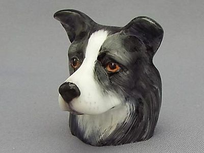 Francesca Character Head Thimble - Border Collie, Dog Collection