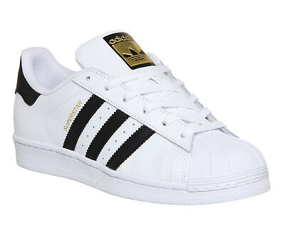Womens Adidas Superstar  WHITE BLACK FOUNDATION Trainers Shoes