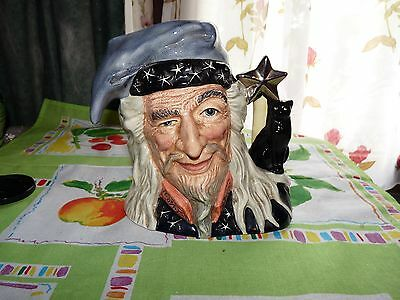 ROYAL DOULTON  The Wizard Character jug Grand modèle impéccable