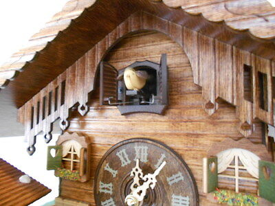 SPECIAL ORIGINAL BLACK FOREST Cuckoo Clock Alpen Farm and Weather House 2in1 !!
