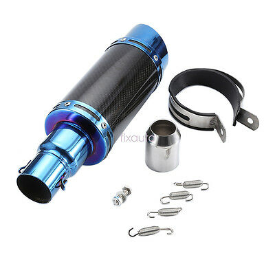 38-51mm New Exhaust Muffler Pipe Silencer System Motorbike Carbon Fiber