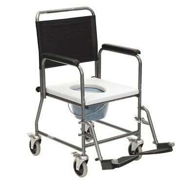 Glideabout Commode with Removable Armrests