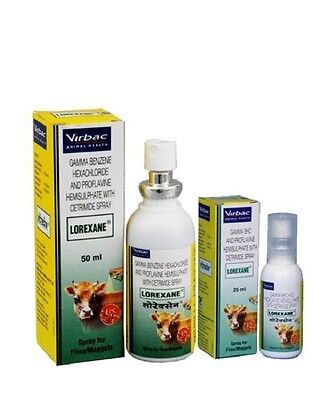 Virbac Pets Lorexane Spray 50 ml - Powerful Fly Repellent - For Pet Care