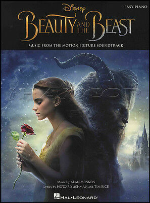 Disney's Beauty and the Beast Easy Piano Sheet Music Book Movie Film Soundtrack