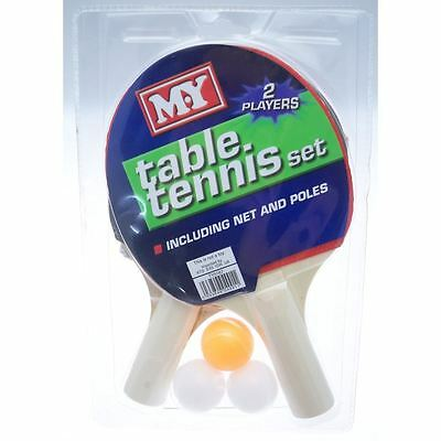 2 Player Table Tennis Set Ping Pong Balls Paddle Bat Net Outdoor Toys