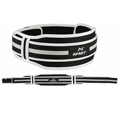Weight Lifting Gym Fitness Silver Neoprene Belt Training Support Body Building
