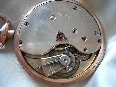 Pocket Watch Agassiz 1890 Gold Plated 17 Jewels (117)