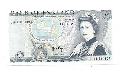 Great Britain 5 Pounds 1973-80 in (XF+) CRISP Banknote P-378b