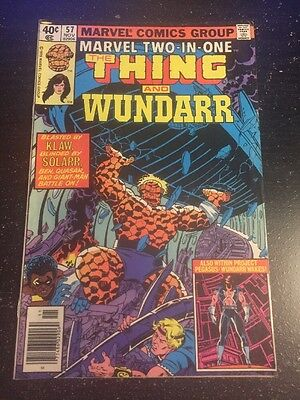 Marvel Two-in-one#57 Awesome Condition 8.0(1979) Perez Art, Wundarr!!