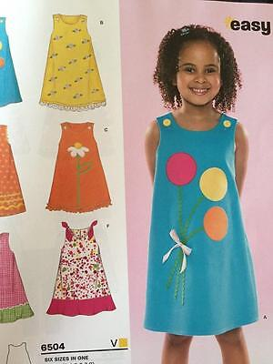 New Look Sewing Pattern 6504 Childs Girls  Dress Size 3-8 New