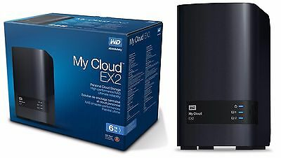 WD 6TB My Cloud EX2 Network Attached Storage - NAS - WDBVKW0060JCH-NESN 6 TB