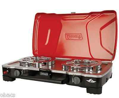 Coleman Hyperflame Fyrecadet 2 Burner Gas Stove Camp Cooking