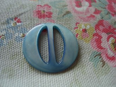 Vintage Round  Blue Mother of Pearl Buckle