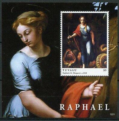 Bloc Sheet peintre Art Painter Painting Raphael  Neuf  MNH ** Tuvalu 2012