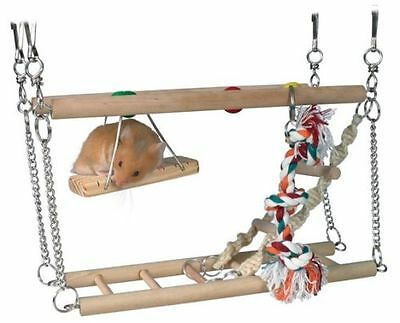 Trixie Hamster Cage Hanging 2 Storey Suspension Bridge Toy Mice Hamster 2 sizes