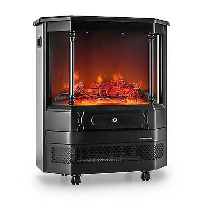 Klarstein Electric Fireplace Indoor Heater Flame Halogen Heating Fan Living Room