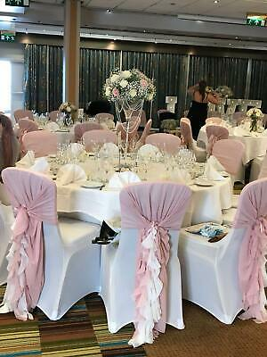 Dusky Pink Wedding Ruffles Chair Cover Sash FOR EVENT DECOR HIRE ONLY!!!