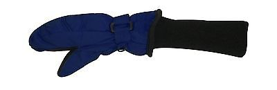 SnowStoppers Kid's Nylon Waterproof Snow Colorful Mittens (Navy Blue Large)