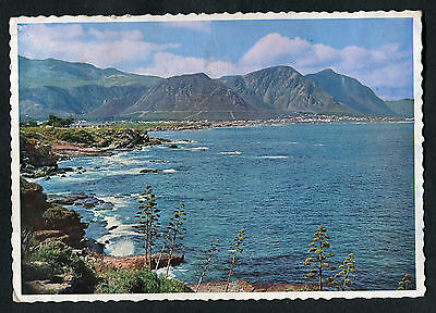 Posted 1974 View of Hermanus Bay & Mountain Range, Cape, South Africa
