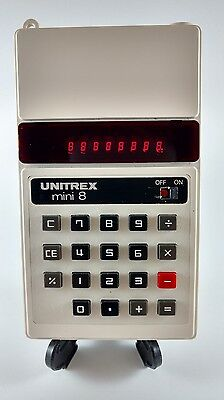 MBO Unitrex mini 8 Vintage RED LED Basic Calculator Japan Working Collectible