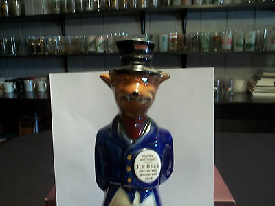 "Vintage Jim Beam ""Happy Birthday"" Fox Empty Bourbon Decanter - Rare"
