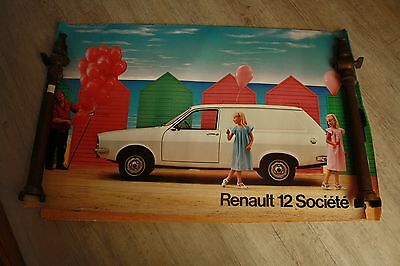 ANCIENNE  AFFICHE ORIGINALE  DE CONCESSION RENAULT 12 societe   PUBLICIS
