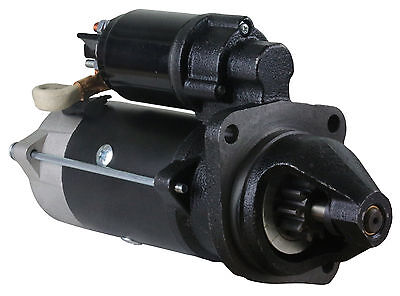 New 12V 10 Tooth 4.0Kw Cw Starter Motor Massey Fits Caterpillar Tractor 2253148