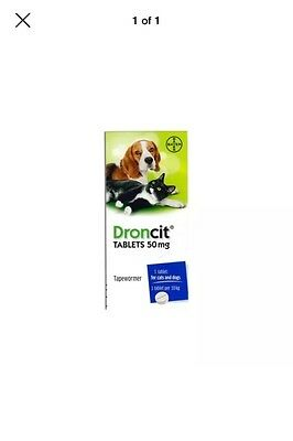 10 Pack Droncit Worming Tablets For Dogs& Cat Wormer Pill De Wormer Wormer