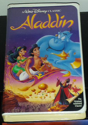 "Walt Disney ""Aladdin"" Black Diamond Classic VHS Video  Vintage 1993"