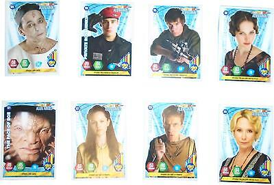USED Panini Doctor Who Alien Armies Card Game Set Of 8 Blue Cards (D.T)