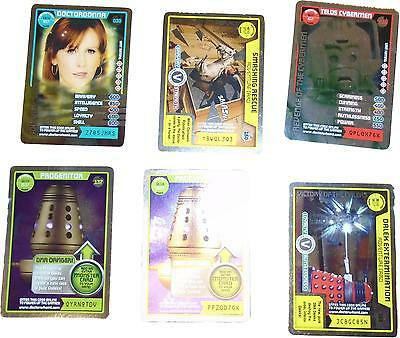 USED Doctor Who Monster Invasion Card Game Set Of 6 Unique Cards (D.T)
