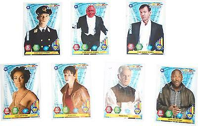 USED Panini Doctor Who Alien Armies Card Game Set Of 7 Blue Cards (D.T)