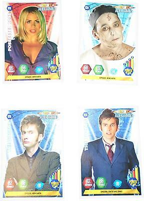 USED Panini Doctor Who Alien Armies Card Game Set Of 4 Cards (D.T)