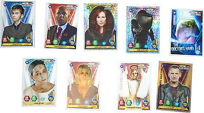 USED Panini Doctor Who Alien Armies Card Game Set Of 9 Cards (D.T)