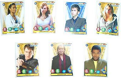 USED Panini Doctor Who Alien Armies Card Game Set Of 7 Mix Cards (D.T)