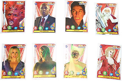 USED Panini Doctor Who Alien Armies Card Game Set Of 8 Cards (D.T)