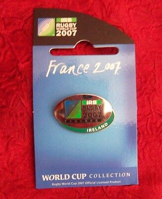 Ireland  2007 Rugby World Cup in France Pin Badge RARE