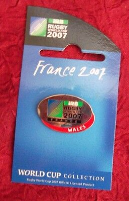 WALES 2007 Rugby World Cup in France Pin Badge RARE