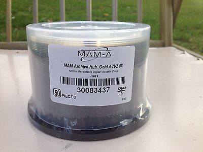 DVD MAMA GOLD Archival 50c Master DVD 50+ year life.
