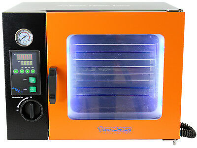 0.9CF Vacuum Oven - Stainless Steel Interior w/ LED Display, LED's - 4 Shelves