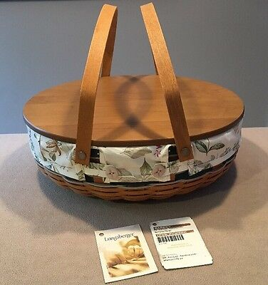 Longaberger 1995 Social Gathering Basket Combo Custom Spruce/Gray Excellent!!