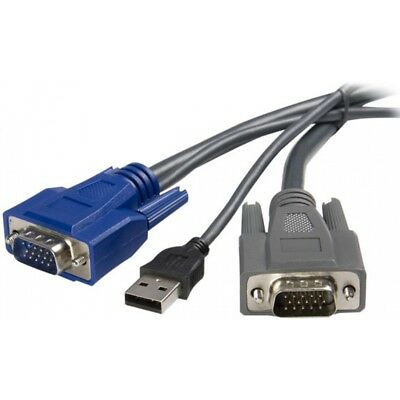 StarTech 6ft Ultra-Thin USB VGA 2-in-1 KVM Cable Brand New