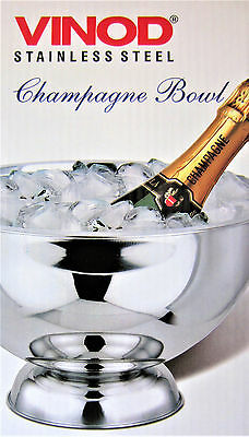 Vinod Stainless Steel Ice bucket party Bowl Keep cold Champagne, wine and beer